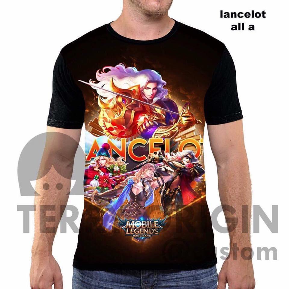 Lancelot all a kaos game mobile legend 3d fullprint