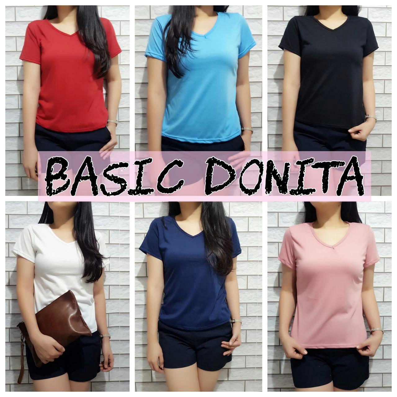 DAMAI FASHION JAKARTA - baju atasan basic DONITA 7warna - konveksi murah
