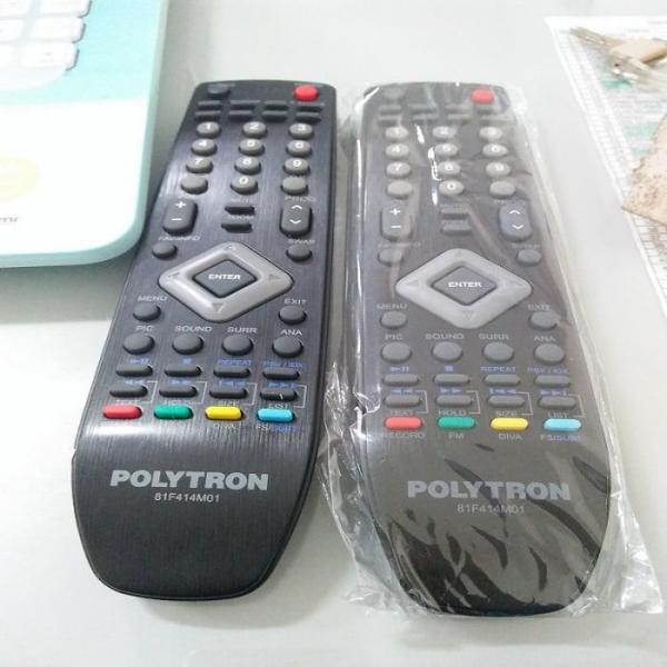 Remote Remot TV TIVI Polytron Politron Pholitron - Remot TV LCD LED - Hitam - ARS