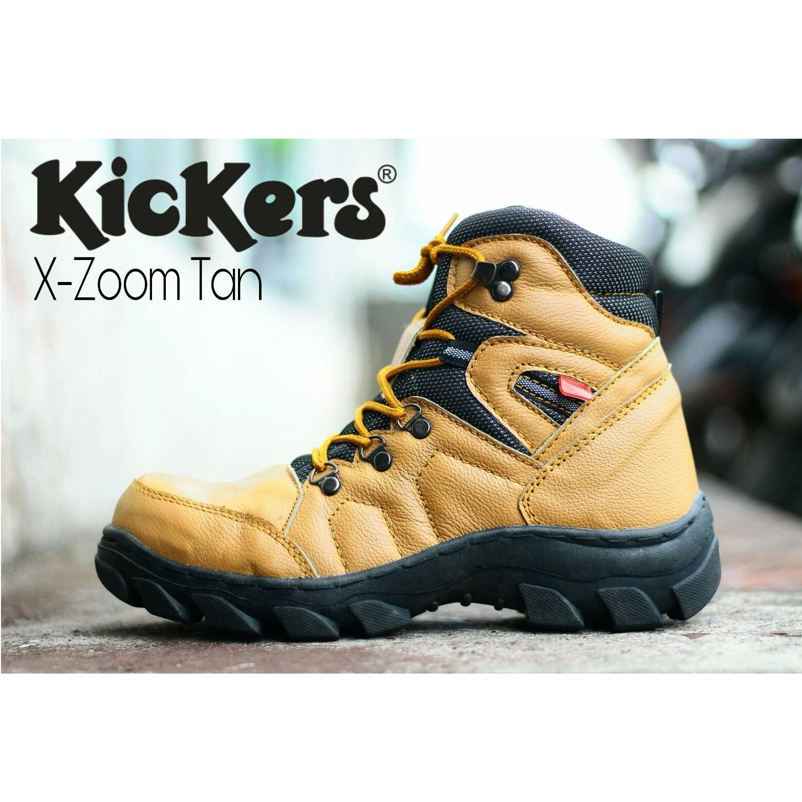 KICKERS - Sepatu Boots Pria Keren Sepatu KICKERS Safety KULIT Sepatu gunung haiking (KICKERS LOKAL)