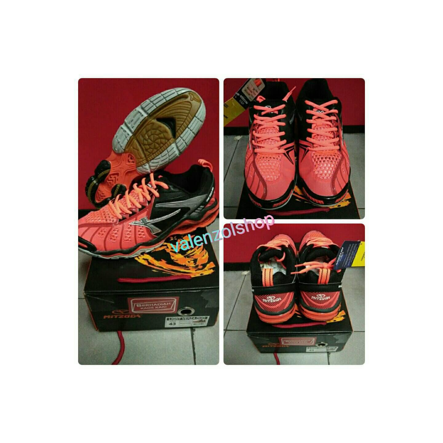 Sepatu Volly / Voli Mitzuda Light Verza Duo Red - Original
