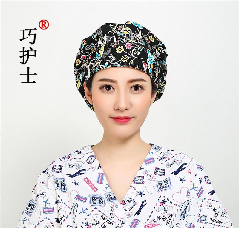 Harga qiao topi perawat katun sablon ruang operasi topi wanita rambut | CekHarga.PW