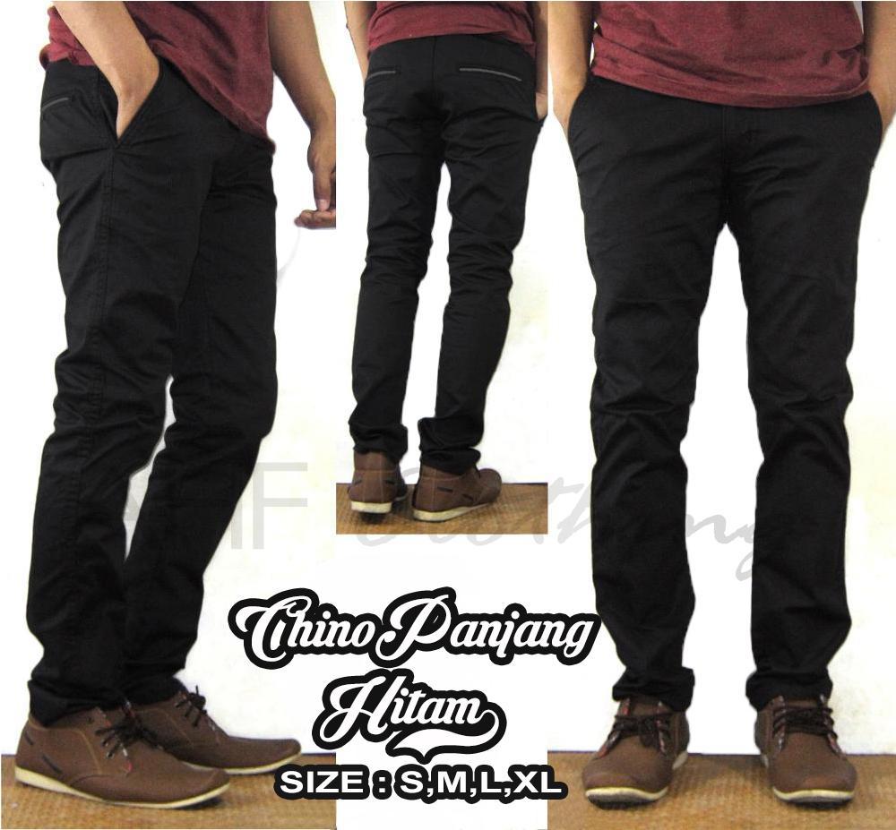 Celana Panjang Chino/Chinos/Cino Pria/Cowok - Krem(Cream)/Abu(Grey)/Hitam(Black)