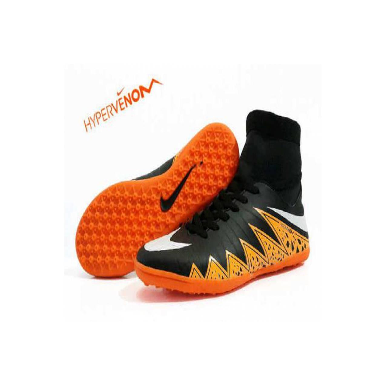 Jual jual sepatu futsal nike hypervnom original premium hitam oren B