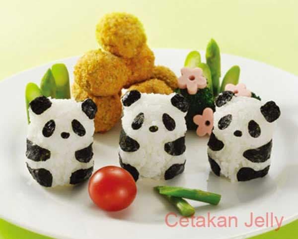 Bento Baby Panda Rice Mold 3D with Nori Cutter / cetakan kue terbaru / cetakan kue modern / cetakan kue simpel / cetakan kue praktis / cetakan kue higenis / cetakan kue unik / cetakan kue ibu rumah tangga / cetakan kue murah