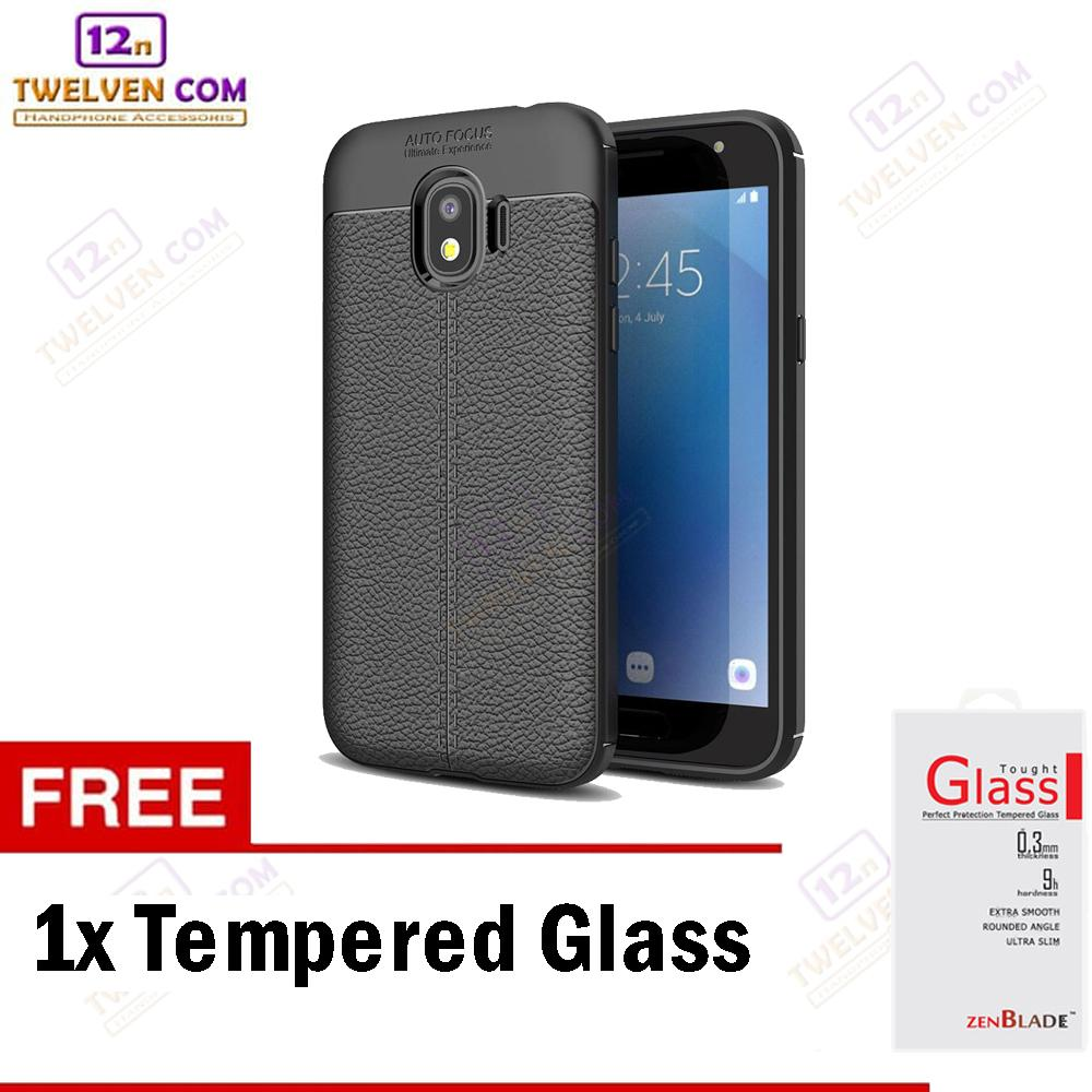 Case Auto Focus Softcase Casing for Samsung J2 Pro 2018 - Hitam + Free Tempered Glass