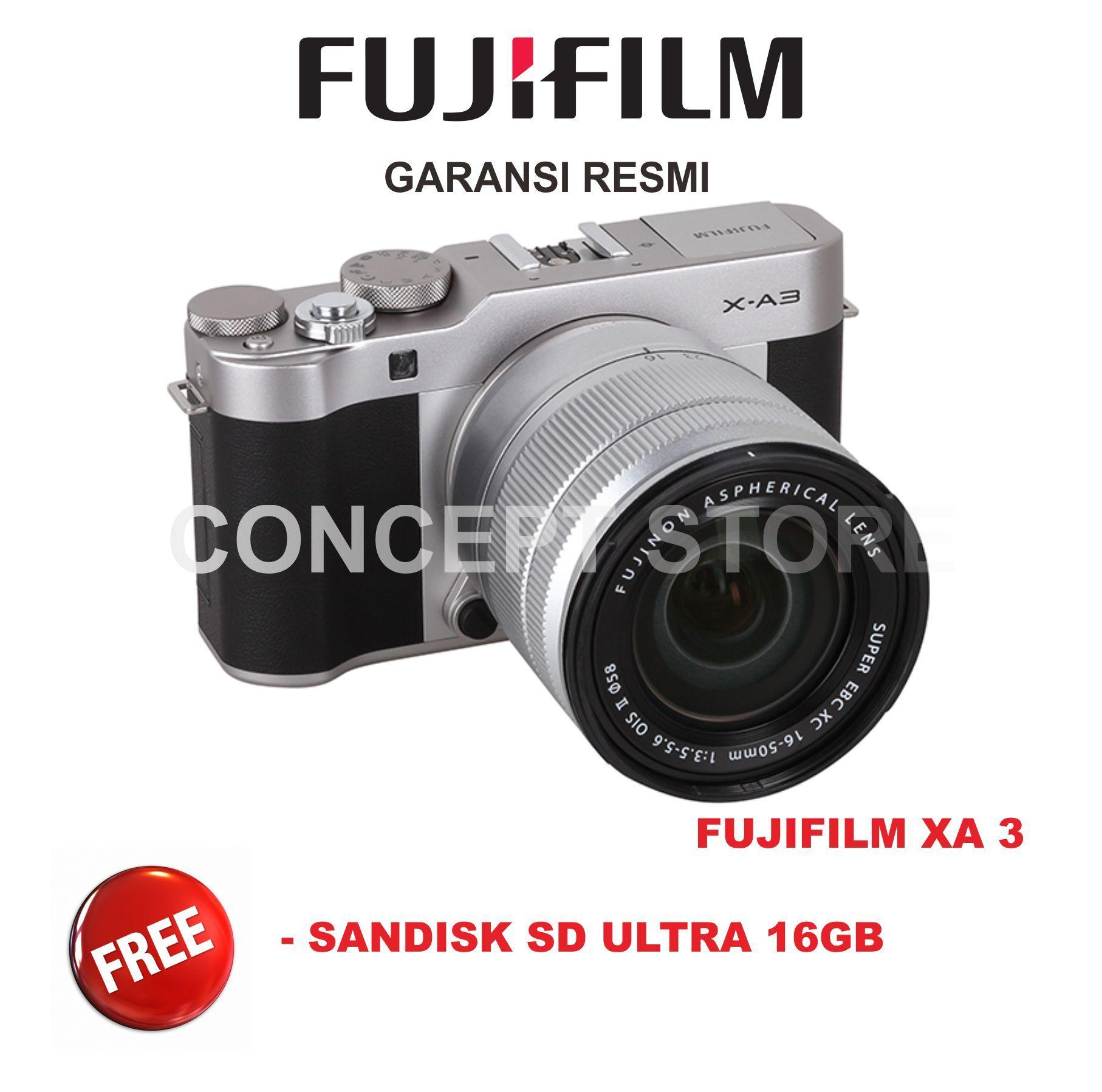 Kamera Mirrorless Fujifilm Termurah Xt20 Silver 16 50mm X T20 Xt 20 Hitam