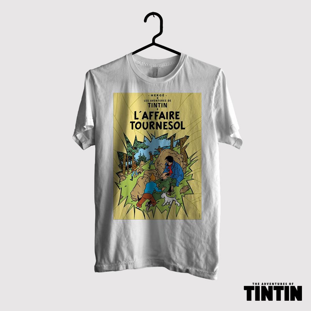 Kaos Tintin Original Gildan - Tournesol