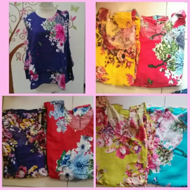Atasan Tumpuk Bunga / Baju Bali