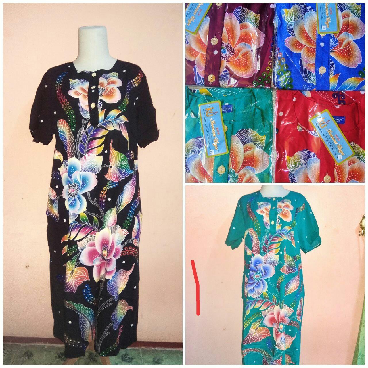Daster Batik Kencana Ungu 04 Lengan Pendek Label Biru (KUB)