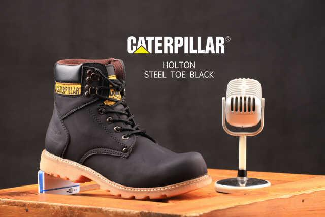 Caterpillar hOLTON Steel Toe safety Boots Sepatu Boots Pria Safety Ujung  Besi Touring Tracking Kerja Lapangan 28a3d8555c