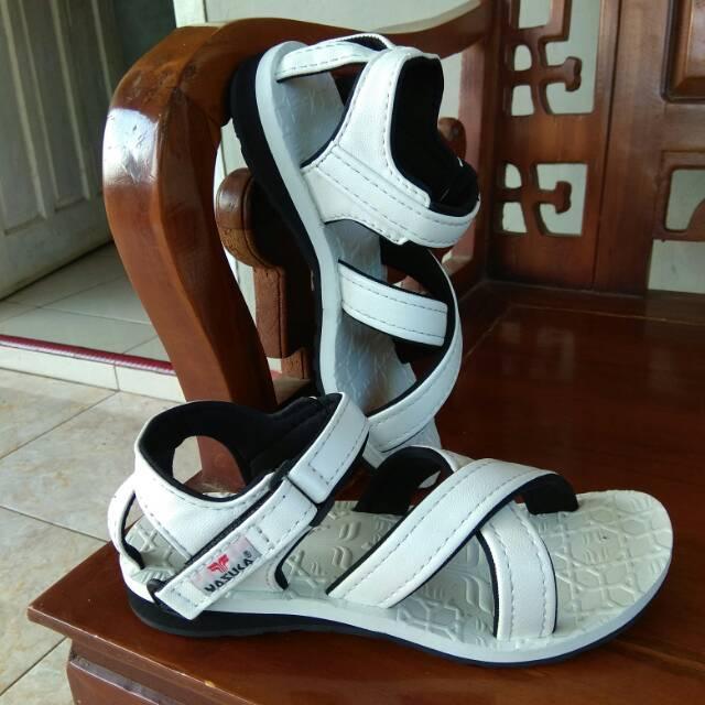 Sandal Yasuka Masagi Original - Sendal Haji dan Umroh Asli Anti Slip Hitam size