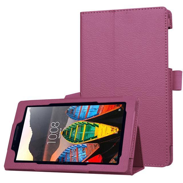 1 Pc/lot Ramping Lipat Penyangga Sarung PU Kulit Case untuk Lenovo Tab 3 7 Esensial Tab3 710F 710I 7.0 Inch tablet Case S Multi-warna