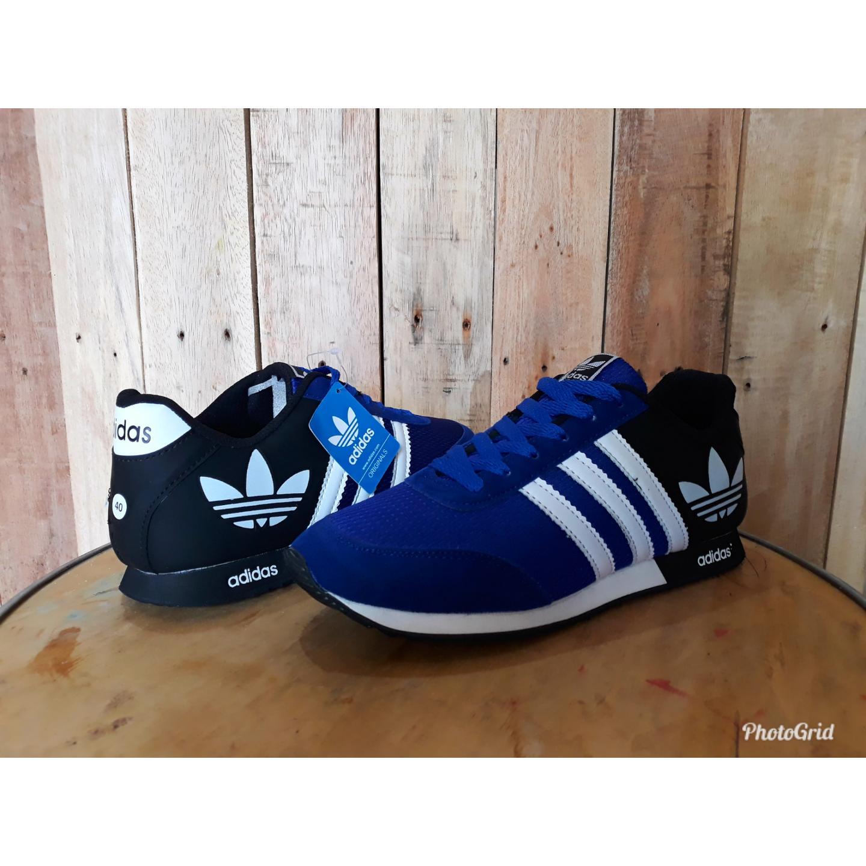 sepatu olahraga adidas neo v racer jogging runing lari sneaker pria wanita berkualitas ringan