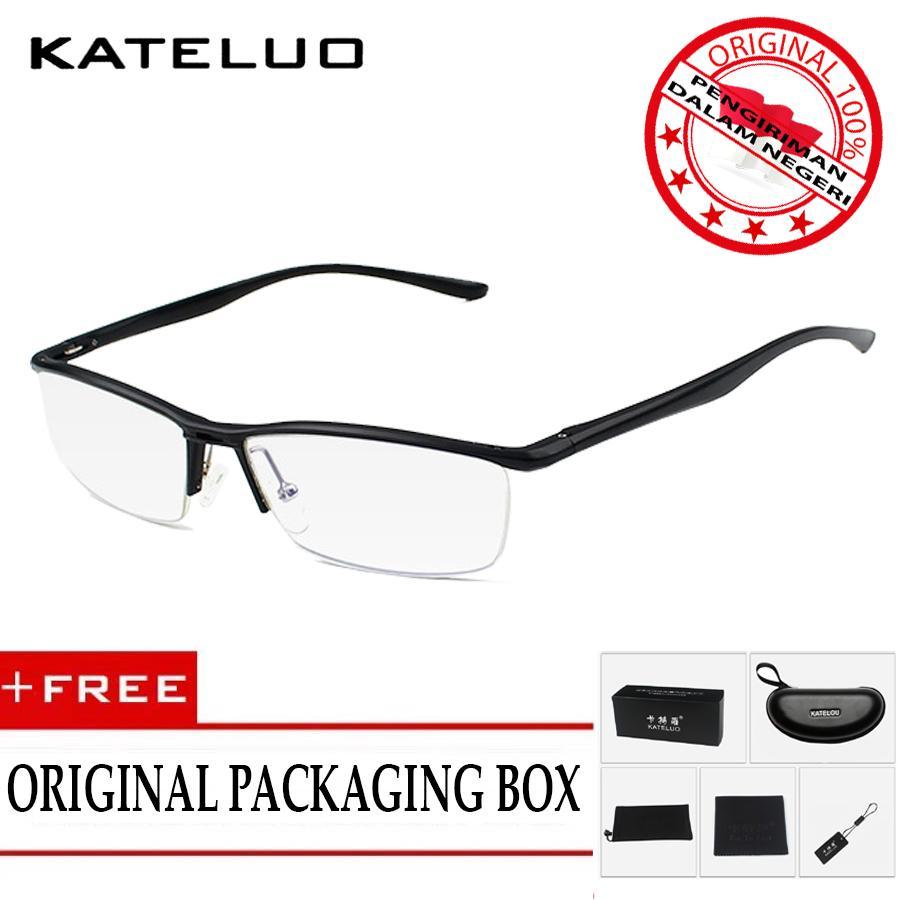 KATELUO 130 Kacamata Komputer Aluminium Anti Radiasi Frame Ringan Korean  Fashion Style- Free Kotak Hardcase 95368ca3b2