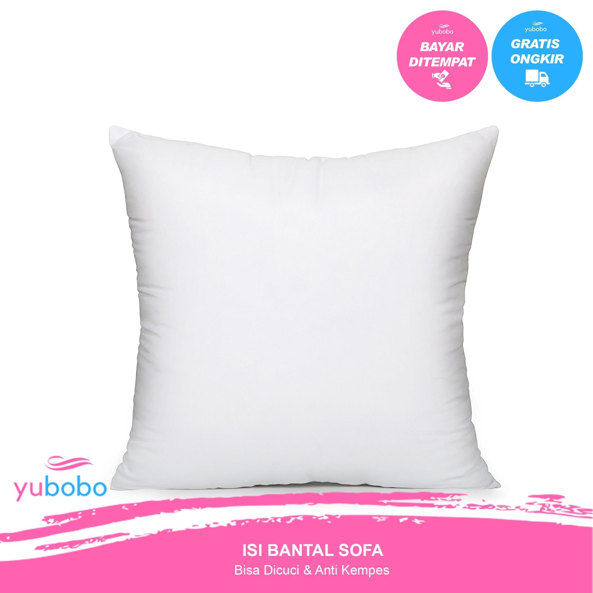Paket 1 Pcs Promo Isi Bantal Sofa Tamu 40 x 40 cm - Kursi - Bantal Standar Hotel (Hanya Bantal) Polos - Yubobo