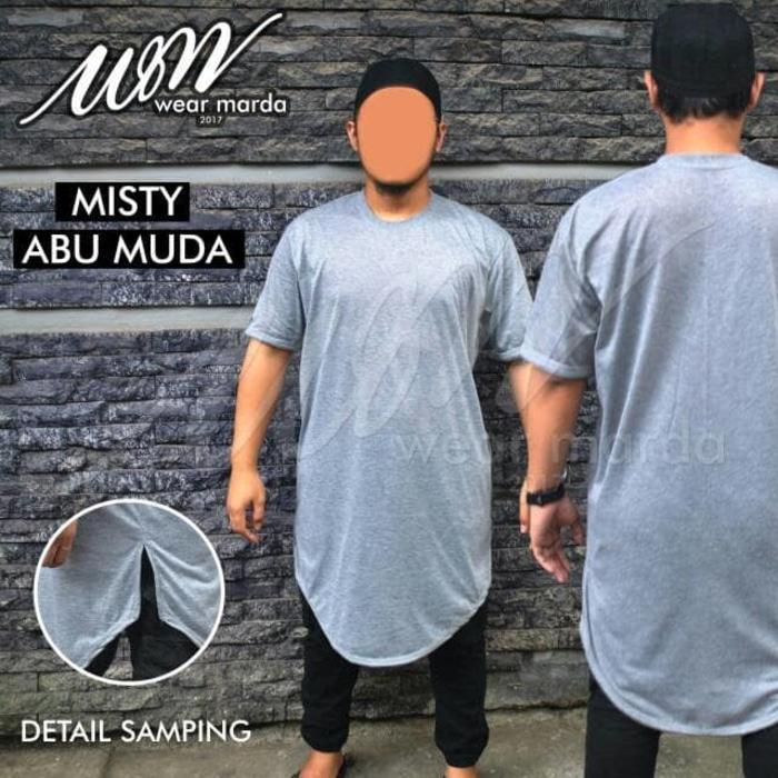 DISKON Gamis Kaos Pakistan Abu Misty Muda Baju Koko Grey Lengan Pendek TERMURAH