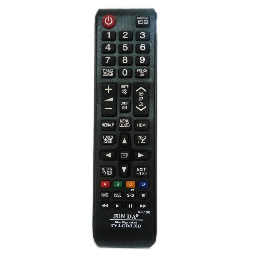 Junda Remote Untuk TV SAMSUNG / Thosiba/ Sharp / LG / Dll ( Untuk Semua Tv Flat ) LED/LCD - UJ-L1000  - Hitam