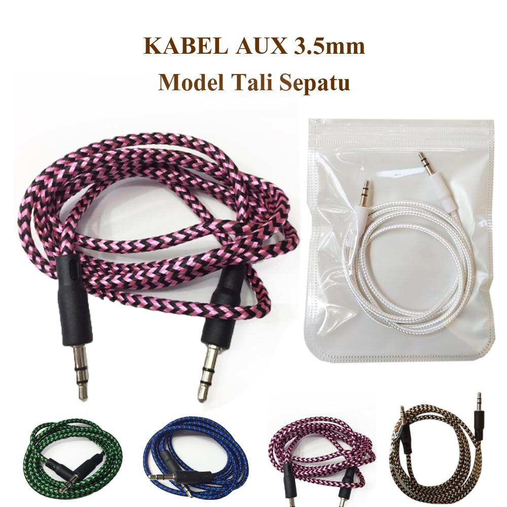 FAK Kabel AUX Audio 3,5mm Stereo Model Tali Sepatu