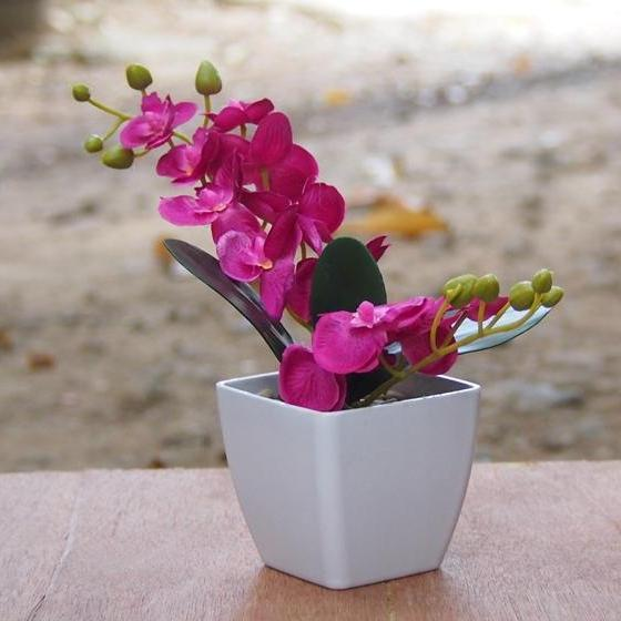 Bunga Anggrek Dekorasi Rumah Tanaman Artifisial Hiasan Ruang Tamu Kantor Art259md28