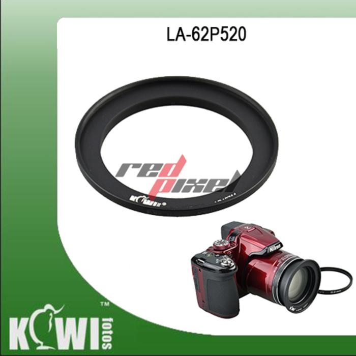 KIWIFOTOS LA-62P520 ~ FILTER ADAPTER FOR NIKON P510, P520, P530