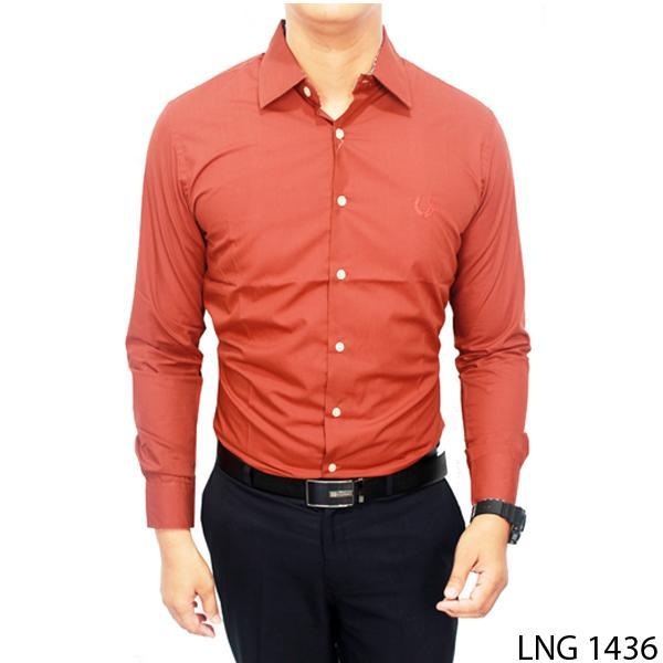 Gudang Fashion - Kemeja Pria Polos Slim Fit Panjang - Aneka Warna Modis