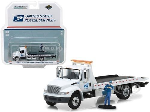 TERLARIS Greenlight 1/64 HD Truck USPS International Durastar Flatbed