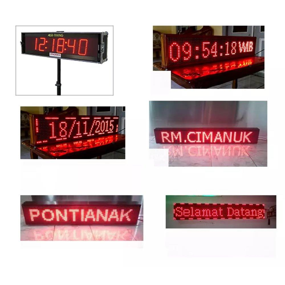 LED RunningText 68X20 / Running Text / MovingSign Red Color
