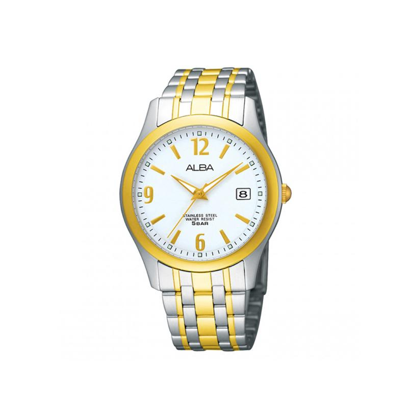 Alba - Jam Tangan Wanita - Silver Komb Gold-Putih - Stainless Steel -  AXT856X1 40b27df661