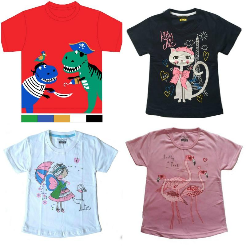 Kaos Anak Mommys Honey Paket Flamingo Isi 4 Buah