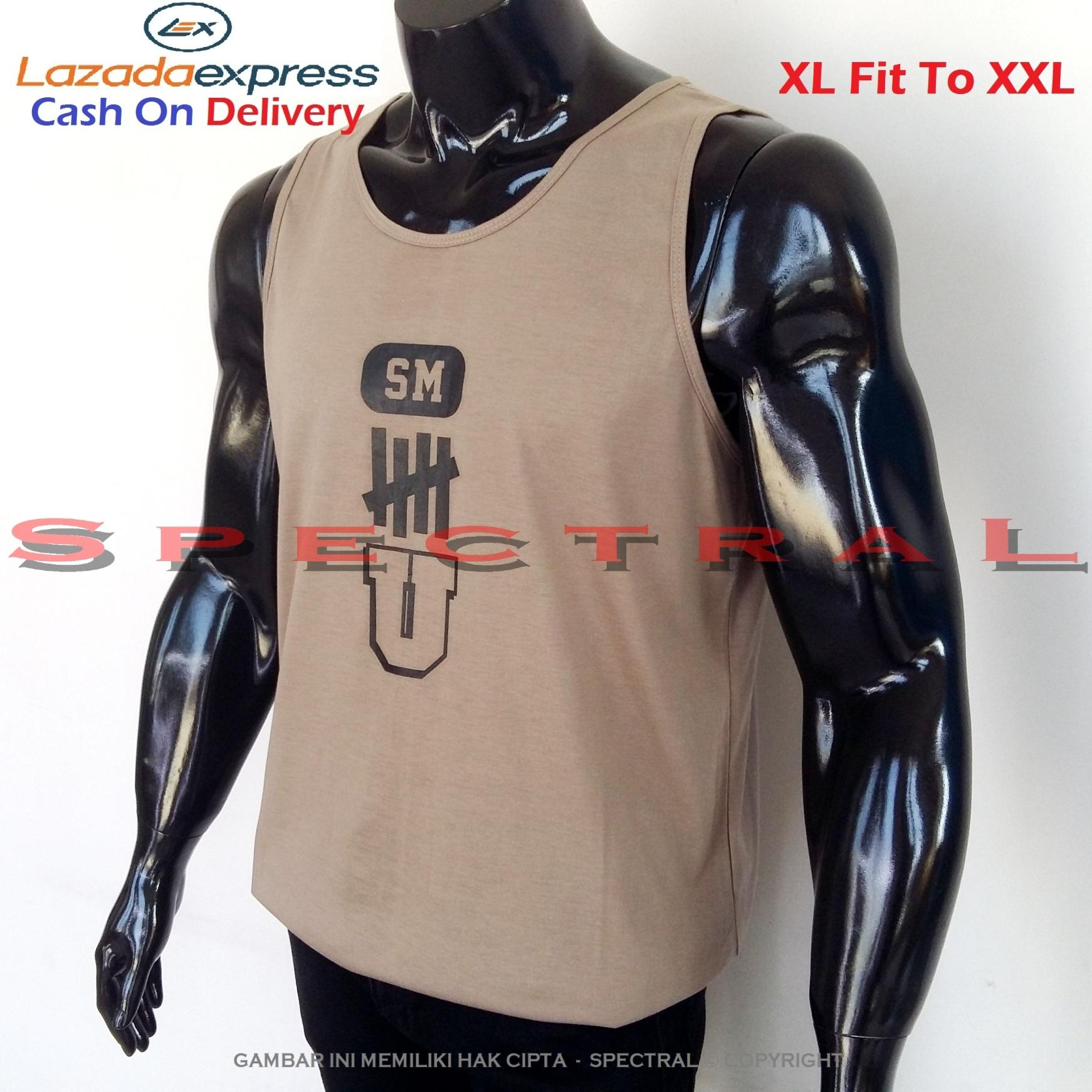 Spectral – Singlet SM Size XL Fit To XXL Premium Cotton Combed 30 U Undefeated Cokelat Brown