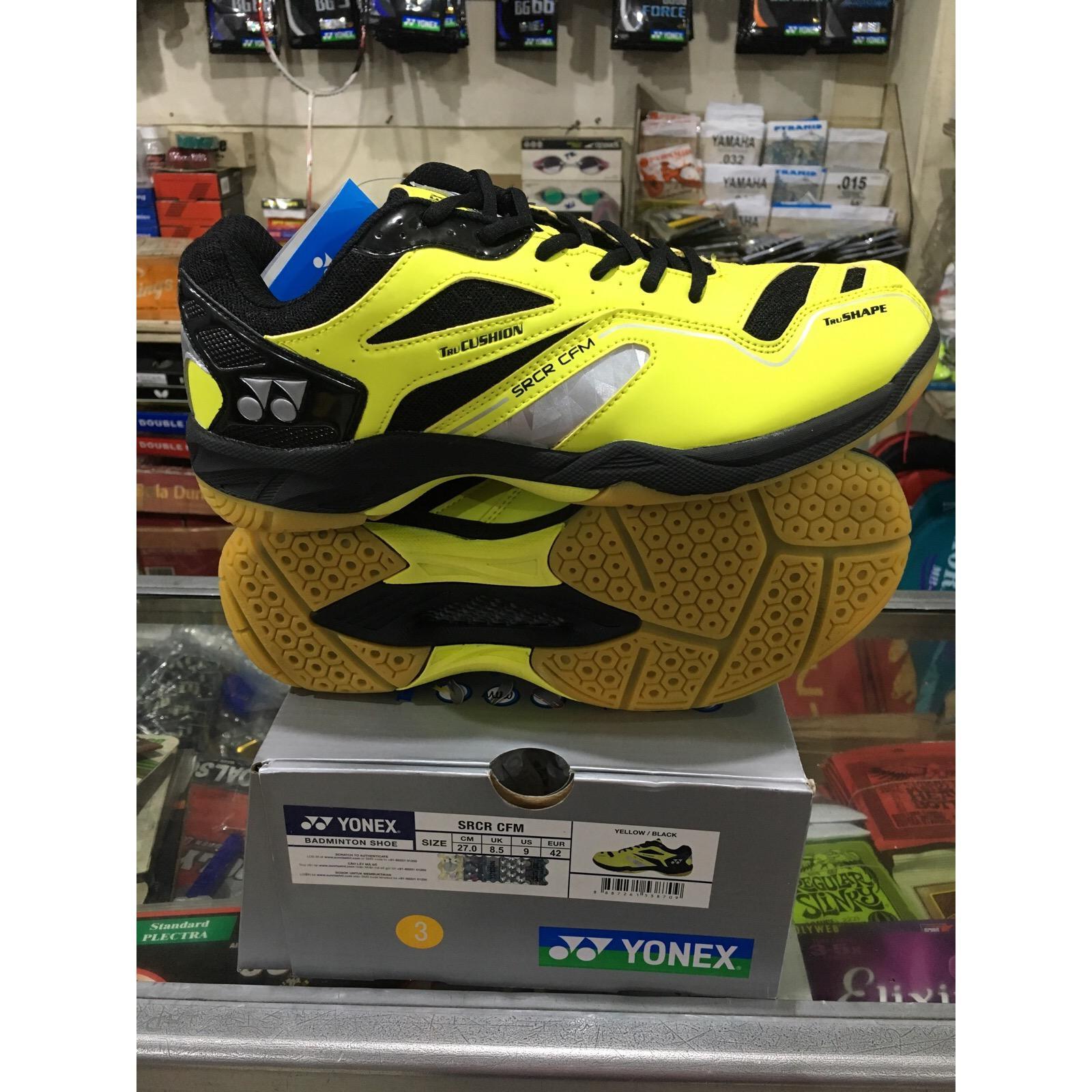 Yonex SRCR CFM Sepatu Badminton (Black/Lime Green)