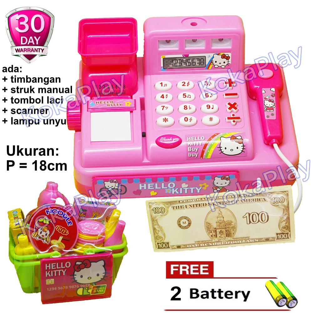 KokaPlay Hello Kitty Super Market Cash Register Cashier Play Set Mainan Anak  Edukasi Mainan Casier Kasir b2ee2c7d1a