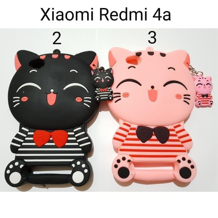 Case 4D Cat Xiaomi Redmi 4A/New/Karakter/Soft/Silikon/4D/Rubber