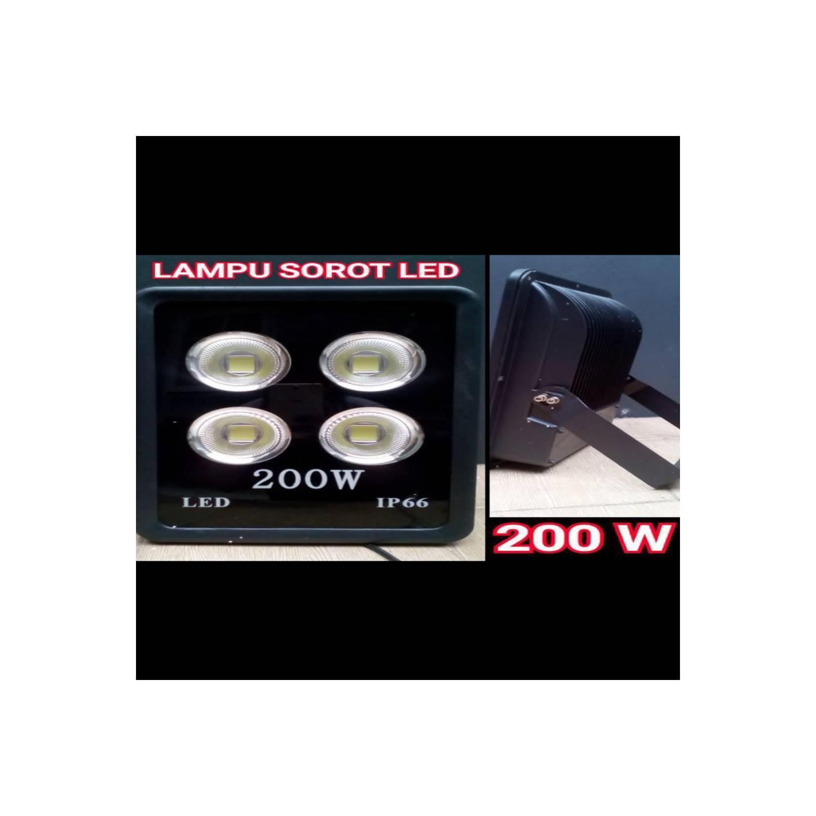 lampu sorot led / lampu tembak / floodlight led 200w 200watt lensa cob