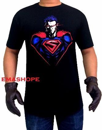 Ema Shope - Kaos Disrto SUPERMAN MATA SINAR T-Shirt Distro Fashion 100 Cotton Combad