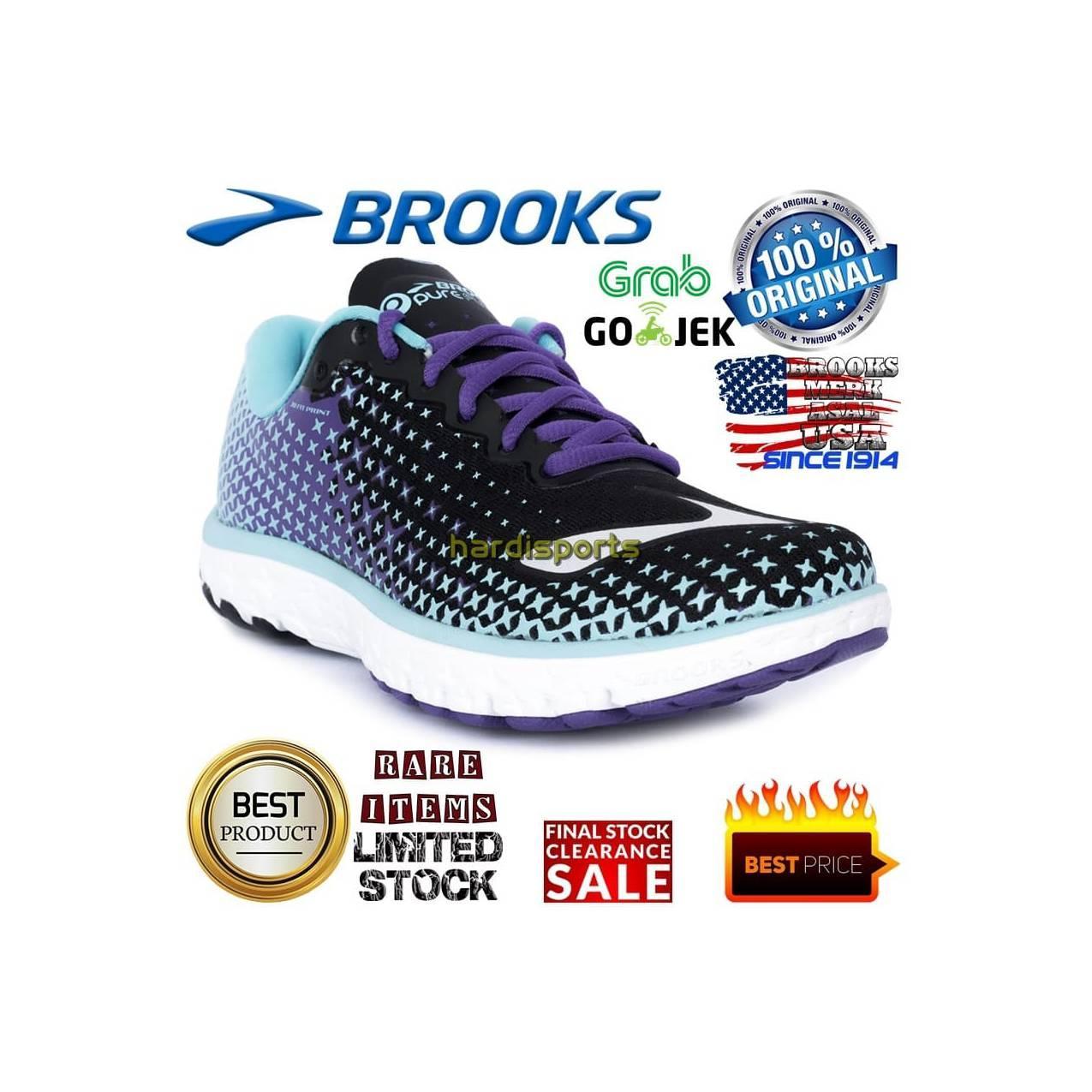 Sepatu Running Brooks Pureflow 5 - 120207-1B488 - Original - Hitam, 39