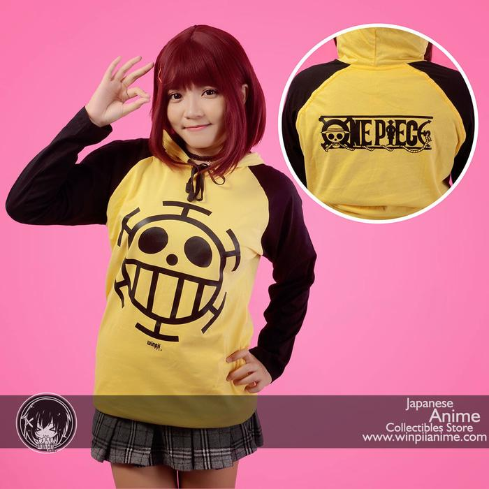 Harga Spesial!! HOODIE T-SHIRT / KAOS TRAFALGAR LAW ANIME ONE PIECE - ready stock