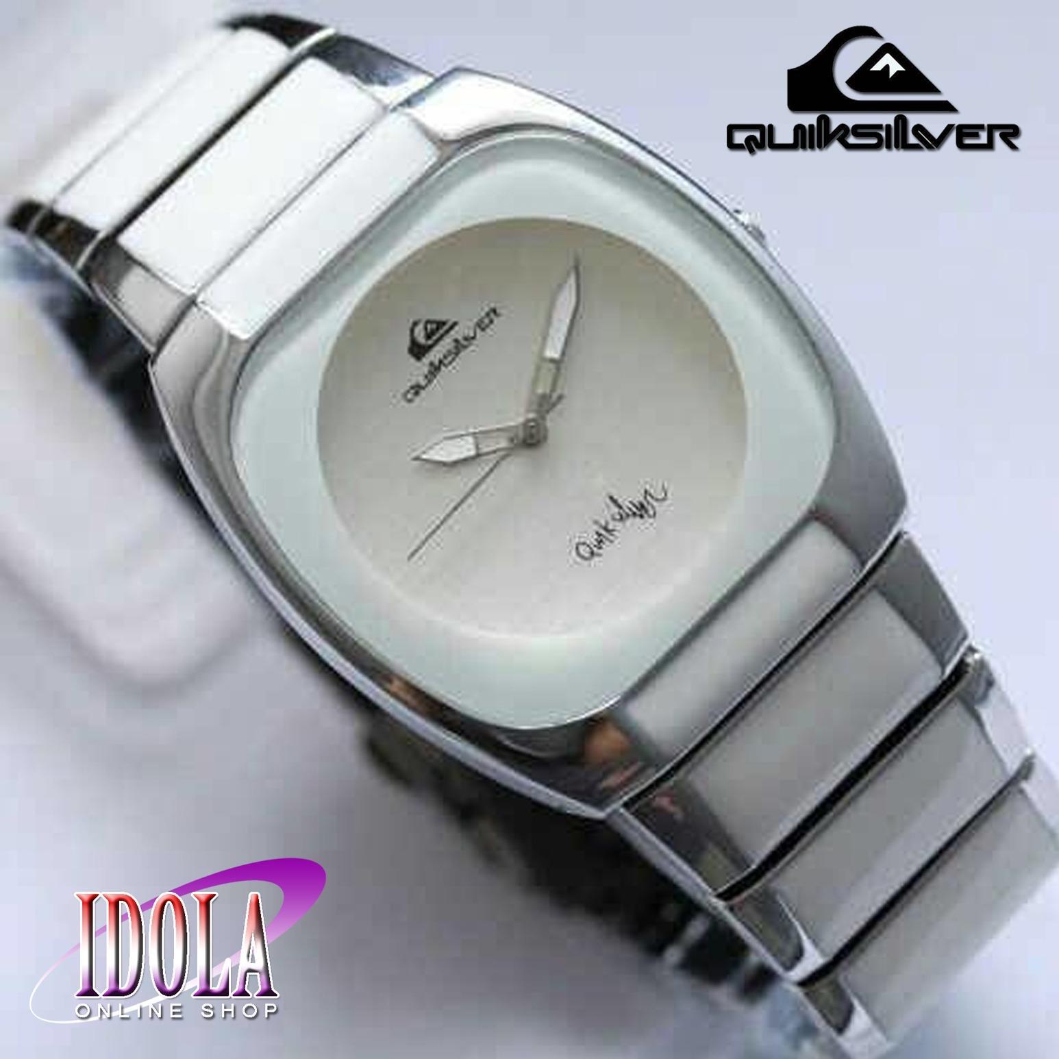 Quik_Silver Keramik - Jam Tangan Fashion Cewe/Wanita - Kombinasi Keramik Dan Stainless Steel