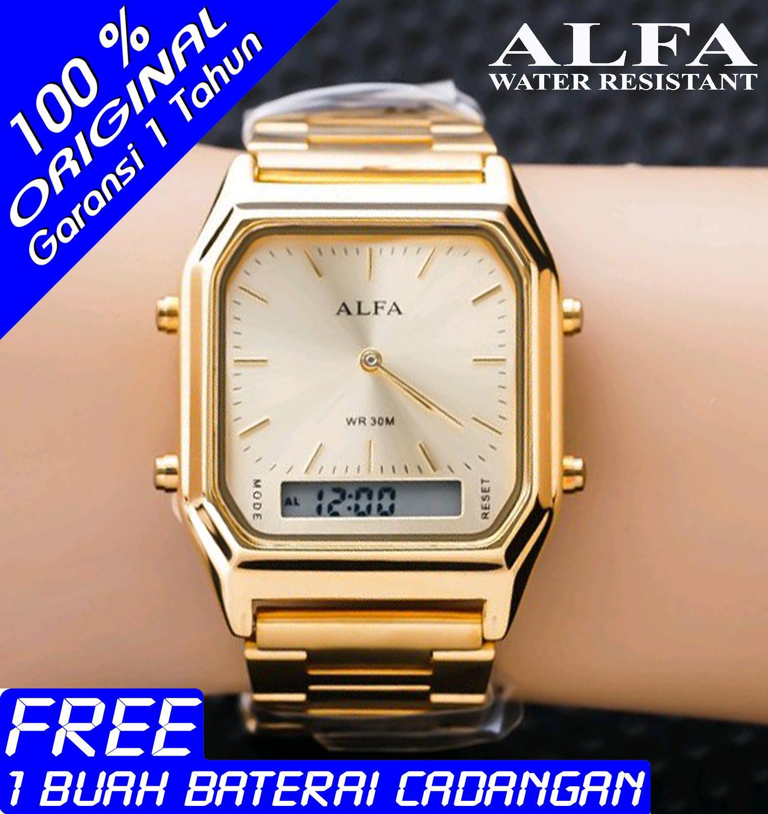 Jam Tangan Pira - Wanita ALFA Original - AF8003W2 - Dual Time