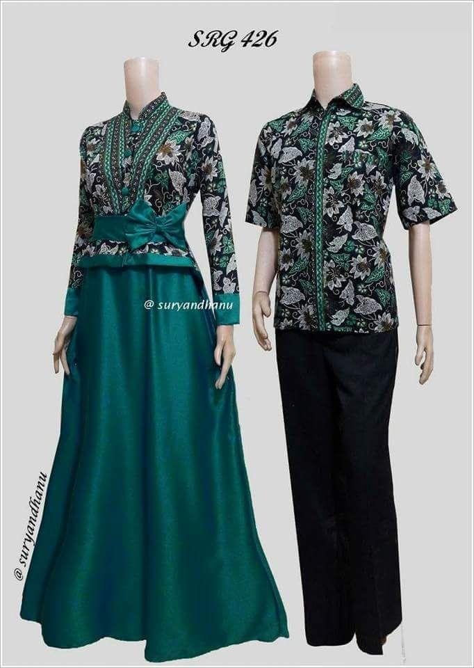 Baju Batik Couple   Baju Muslim Wanita Terbaru 2018   Gamis Wanita Terbaru  Batik Sarimbit   af3376da47