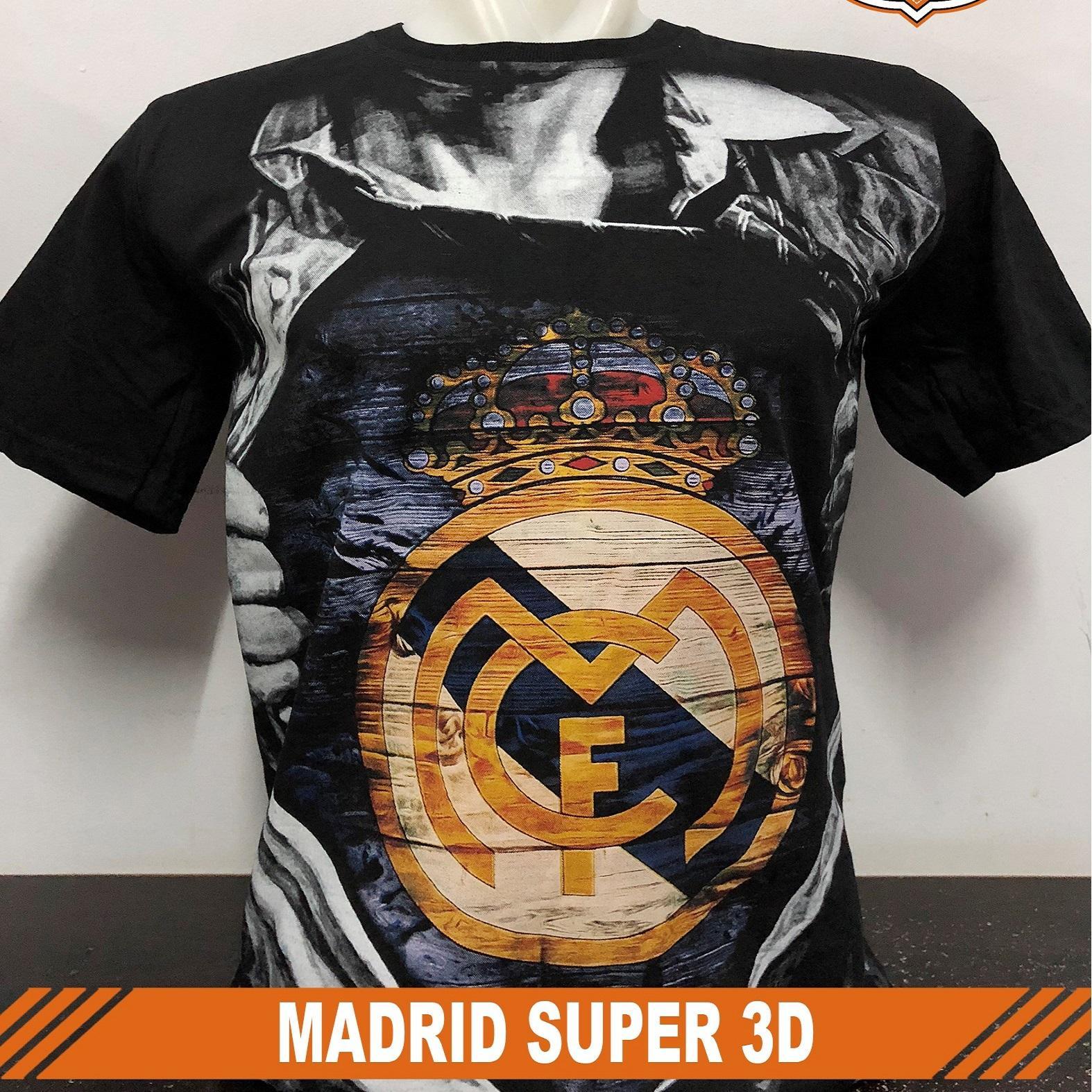 Harga Kaos Real Madrid Jershirt Hitam Baju Distro Oblong Jersey Jasminesalsabila T Shirt Klub Bola Super