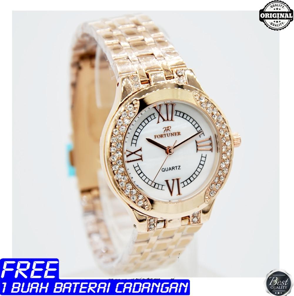 Fortuner - jam tangan wanita - analog - stainless steel - Original - garansi 1 tahun
