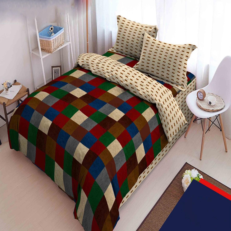 Sprei Bed Cover Kintakun Terbaru Dluxe 180 X 200 B2 King Brown Coffe Motif Sierra 180x200 Cm