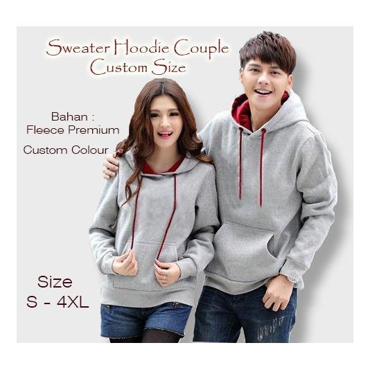 Jaket Sweater Couple Hoodie Custom Size S M L XL 2XL 3XL 4XL 5XL