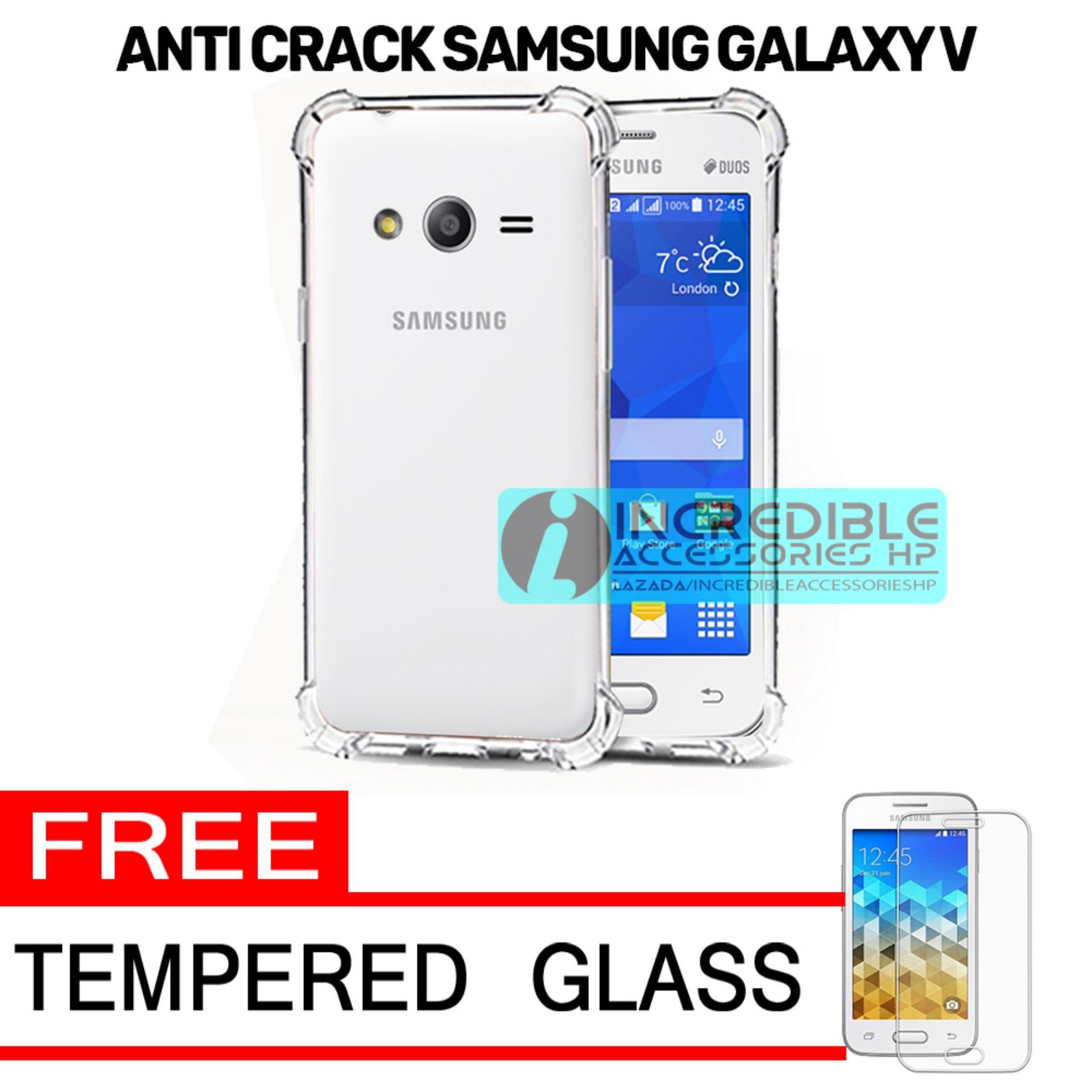 Case Anti Shock / Anti Crack Elegant Softcase  for Samsung Galaxy V (G313) - White Clear + Free Tempered Glass