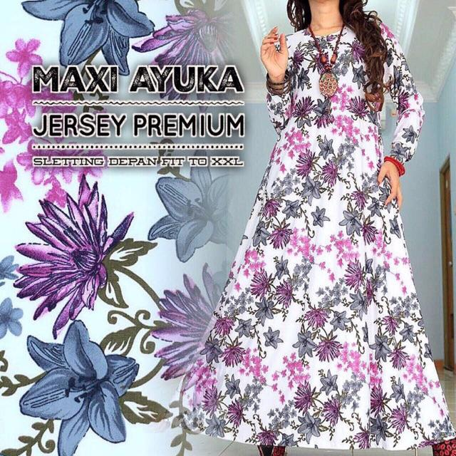 MAXI AYUKA JERSI PREMIUM SLETING DEPAN FIT TO XXL