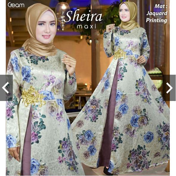IndonesiaHeritage Gamis Syari Pesta Original Bordir Cantik Jacuard Import Printing Motif (TEBAL) Real Pic Baju Kondangan Muslimah Muslim Wanita Terbaru Gaun ...