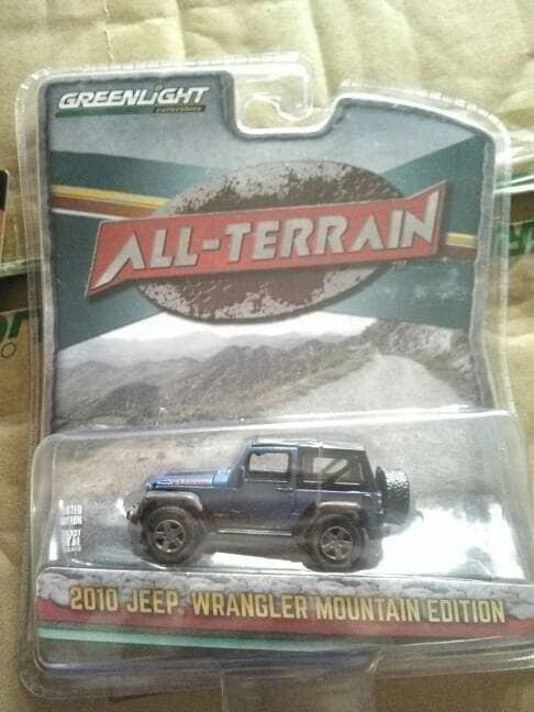 HOT PROMO!!! greenlight jeep wrangler 2010 mountain edition biru - bs5KbJ