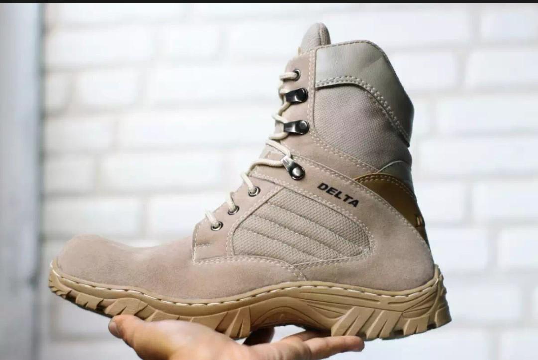 Sepatu Delta foce Army safety cream 8 inci